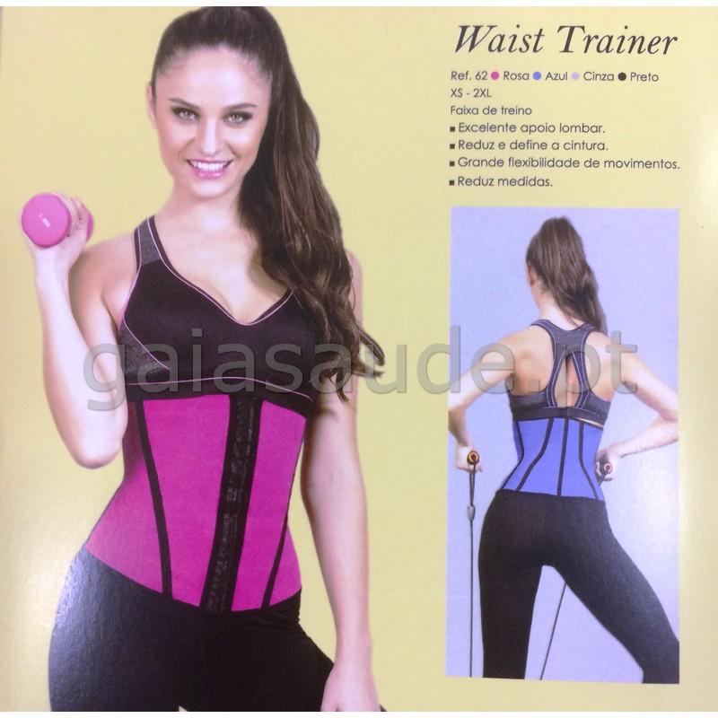 8055ce651b Ortopedia  Waist Trainer 62 Cinta Modeladora Desportiva Rosa Esbelt